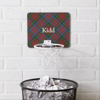 Clan Kidd Tartan fertigen Namen besonders an Mini Basketball Netz