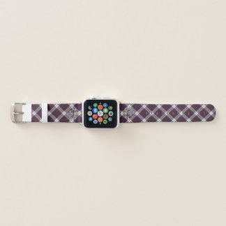 Clan MacDonald Tartan u. silberne schottische Apple Watch Armband