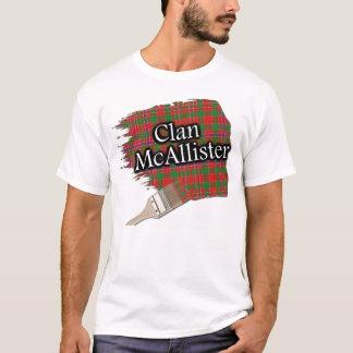 Clan McAllister schottisches Tartan-Farben-Shirt T-Shirt