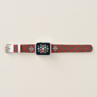 Clan-StewartTartan u. schottische Distel #2 Apple Watch Armband