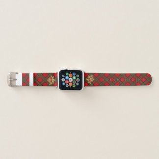Clan-StewartTartan u. schottische Distel Apple Watch Armband