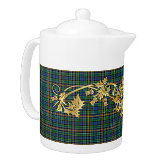 ClanAllisontartan-Muster u. schottische Distel