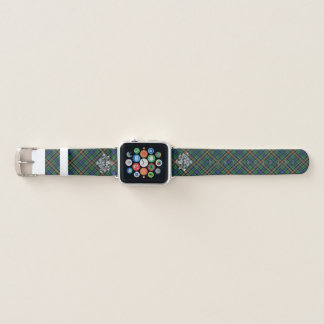 ClanAllisonTartan u. schottische Distel #2 Apple Watch Armband