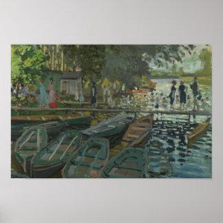 Claude Monet - Badegäste am La Grenouillere Poster