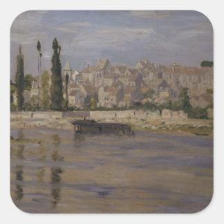 Claude Monet | Carrieres-Heilig-Denis, 1872 Quadratischer Aufkleber