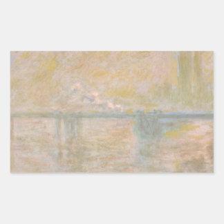 Claude Monet - Charing-Kreuz Brücke in London Rechteckiger Aufkleber
