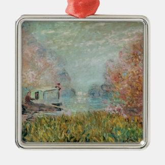 Claude Monet | das Boots-Studio auf der Seine, Silbernes Ornament