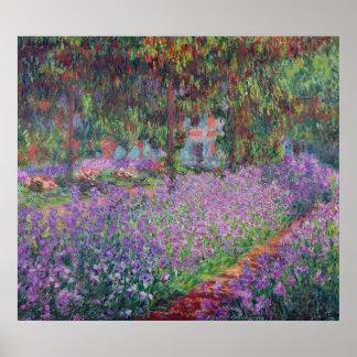 Claude Monet | der Garten des Künstlers bei Poster