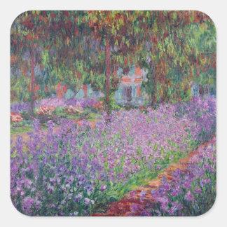 Claude Monet | der Garten des Künstlers bei Quadratischer Aufkleber
