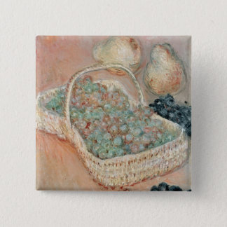Claude Monet | der Korb der Trauben, 1884 Quadratischer Button 5,1 Cm