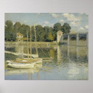Claude Monet - die Argenteuil-Brücke Poster