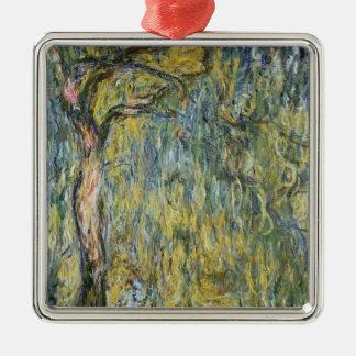 Claude Monet   die große Weide bei Giverny, 1918 Quadratisches Silberfarbenes Ornament