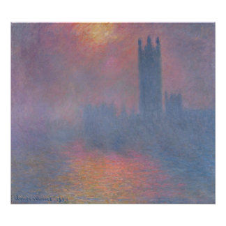 Claude Monet | die Häuser des Parlaments, London Poster