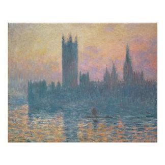 Claude Monet   die Häuser des Parlaments, Poster