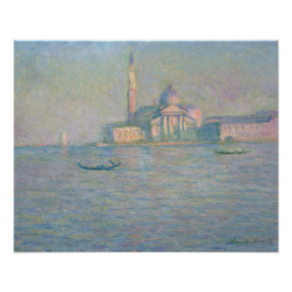 Claude Monet - die Kirche von San Giorgio Poster