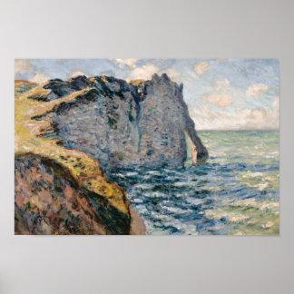 Claude Monet - die Klippe von Aval, Etrétat Poster