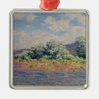 Claude Monet | die Seine am Hafen-Villez, c.1890 Silbernes Ornament