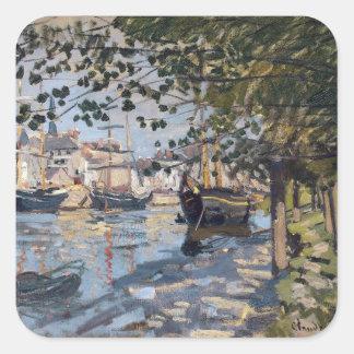Claude Monet | die Seine in Rouen, 1872 Quadratischer Aufkleber