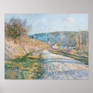 Claude Monet - die Straße zu Vétheuil Poster