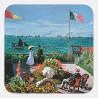 Claude Monet | die Terrasse bei Sainte-Adresse, Quadratischer Aufkleber
