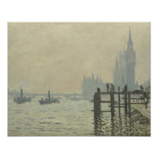 Claude Monet - die Themse in Westminster Poster