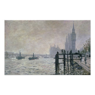 Claude Monet | die Themse unter Westminster Poster