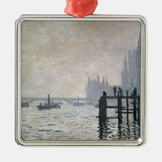 Claude Monet | die Themse unter Westminster Silbernes Ornament