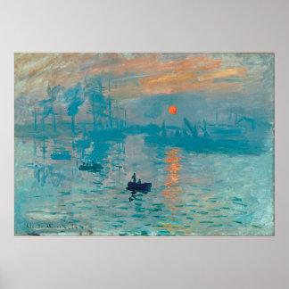 CLAUDE MONET - Eindruck, Sonnenaufgang 1872 Poster