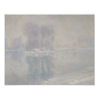 Claude Monet - Eisschollen Poster