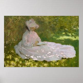 Claude Monet - Frühjahr Poster