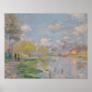 Claude Monet - Frühling durch die Seine Poster