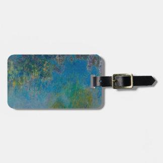 Claude Monet-Glyzinie-schöne Kunst BlumenGalleryHD Kofferanhänger