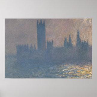 Claude Monet - Häuser des Parlaments, Sonnenlicht Poster