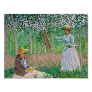 Claude Monet - im Holz bei Giverny Poster