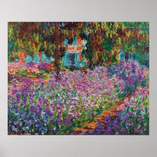 Claude Monet - Iris Monets in der Garten-schönen Poster