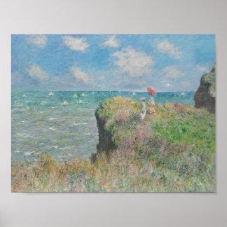 Claude Monet - Klippen-Weg bei Pourville Poster