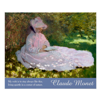 Claude Monet-Kunst-Natur-Zitat-Frühjahr-Malerei Poster