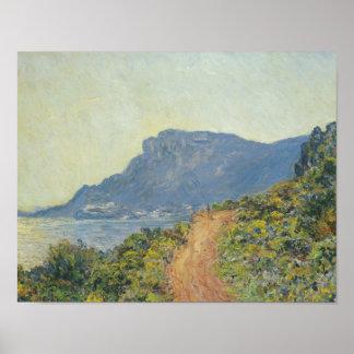 Claude Monet - La Corniche nahe Monaco Poster