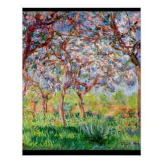 Claude Monet | Printemps ein Giverny Poster