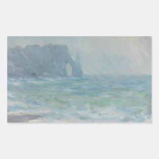 Claude Monet - Regnvaer, Etretat Rechteckiger Aufkleber