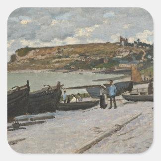 Claude Monet | Sainte-Adresse, 1867 Quadratischer Aufkleber