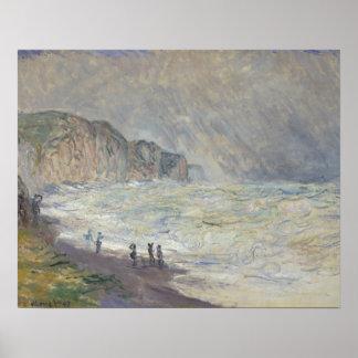 Claude Monet - schweres Meer bei Pourville Poster