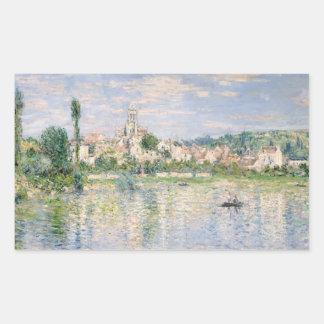 Claude Monet - Vetheuil im Sommer Rechteckiger Aufkleber