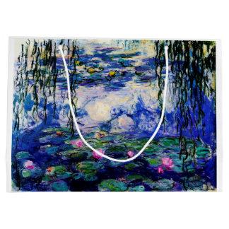 Claude Monet-Wasser-Lilien Große Geschenktüte