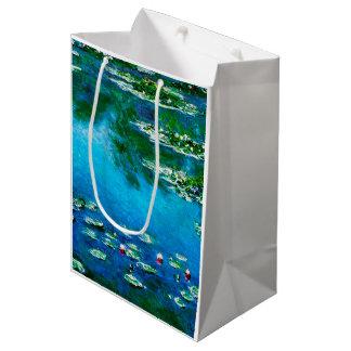 Claude Monet-Wasser-Lilien Mittlere Geschenktüte