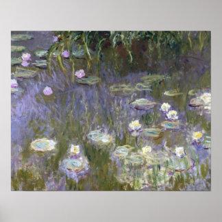 Claude Monet - Wasser-Lilien Poster