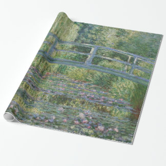 Claude Monet-Wasser-Lilien und japanische Brücke Geschenkpapier