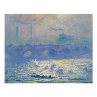 Claude Monet - Waterloo-Brücke Poster