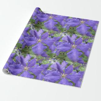 Clematis-lila grüne Blume Geschenkpapier