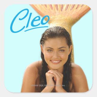 Cleo Quadratischer Aufkleber